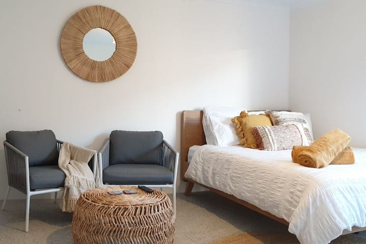 Coastal inspired guest suite