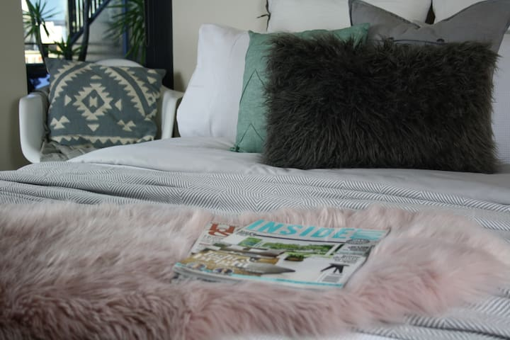 """relax in the comfiest bed with a memory foam topper! """"like a cloud"""""""