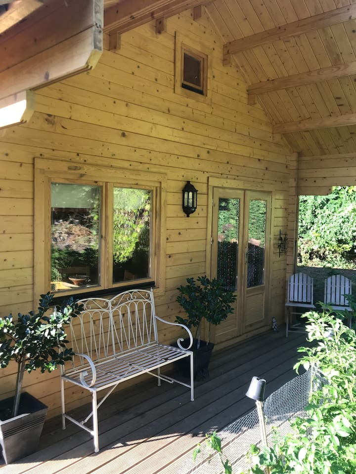 Lovely veranda for sundowners or coffee in the morning! Private entrance.