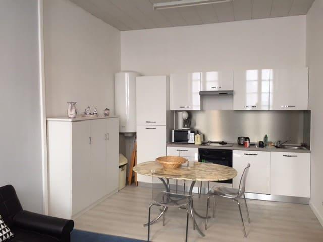 Appartement 2 pièces 60 M²  salon cuisine chambre