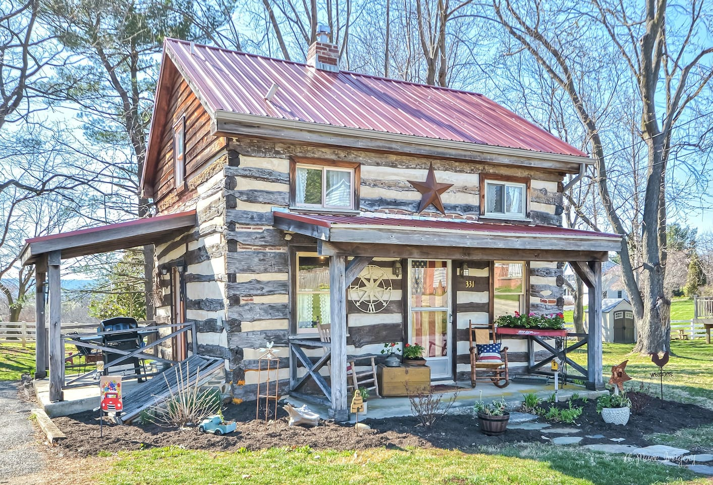 Welcome to our cabin getaway in small town America!