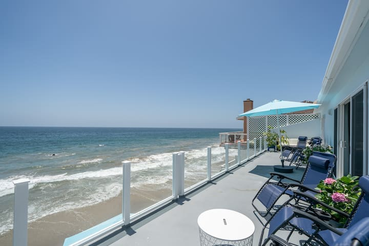 60 Feet Ocean Front 3-Bedroom Malibu Condo