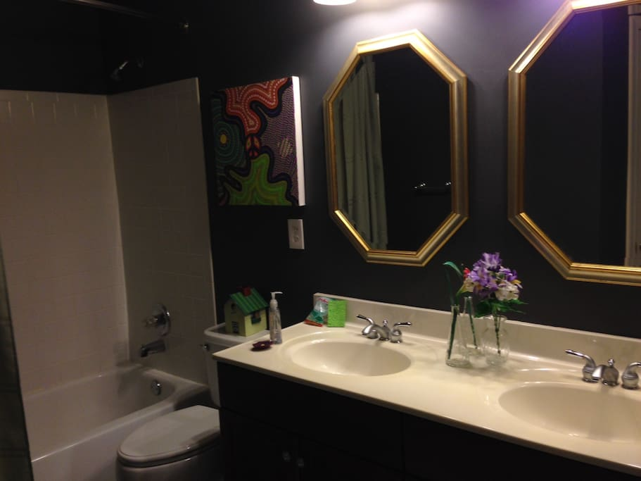 Private bathroom with double vanity