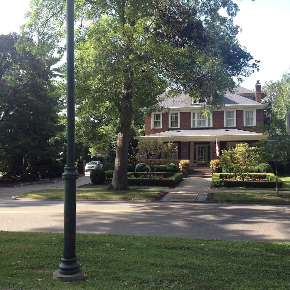 Park Lawn is a 1915 American Foursquare residence fronting on Huntington's beautiful Ritter Park