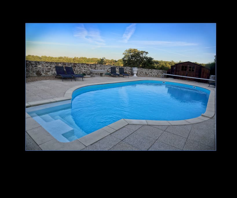 Walled pool area