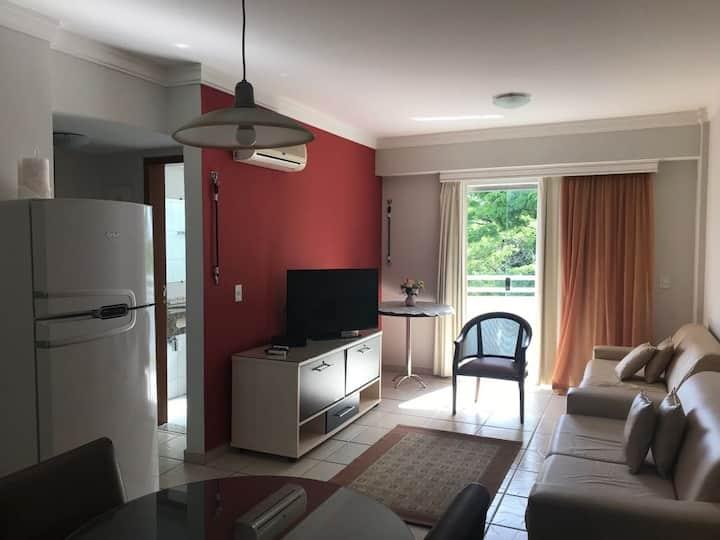 Ap. 2 quartos(1 suíte),  6 pessoas, Rio Quente, GO