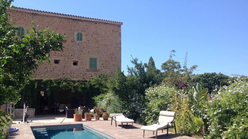 Gorgeous house & swimming pool among orange trees