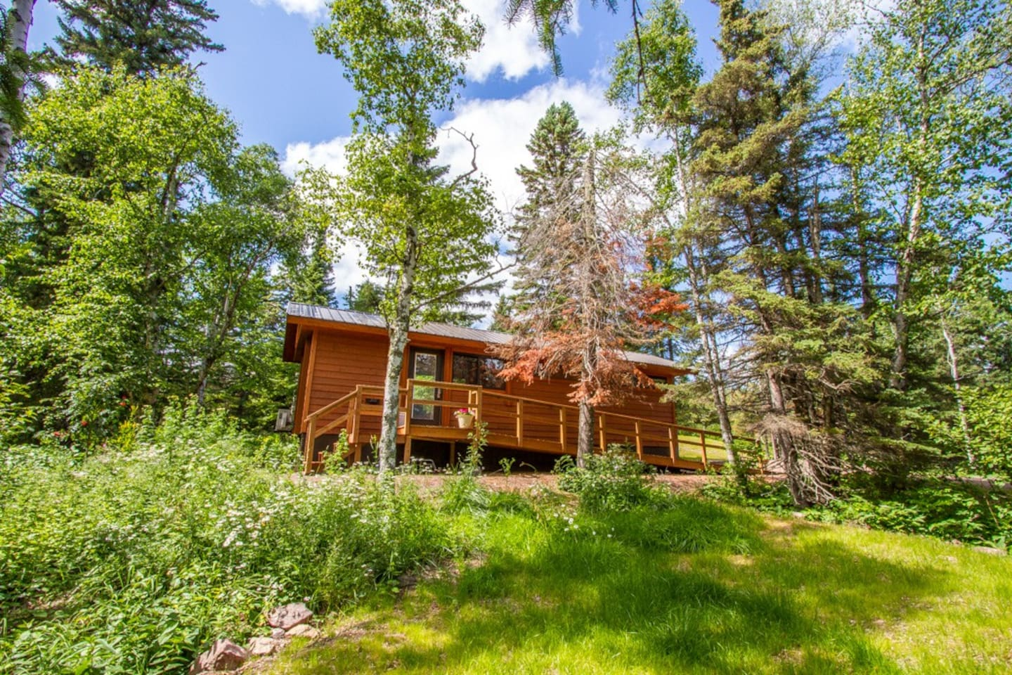 Enjoy tiny home living at Superior Escape in Tofte, MN.