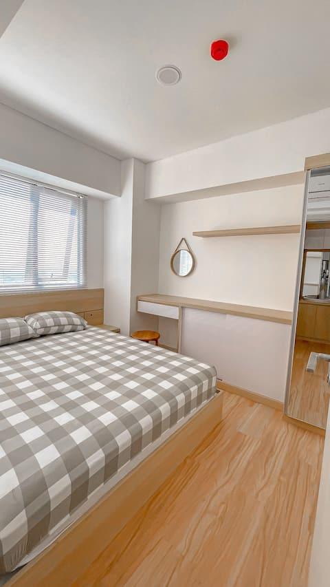 Homey 2BR Apartment with Japandi Vibe in Cikarang