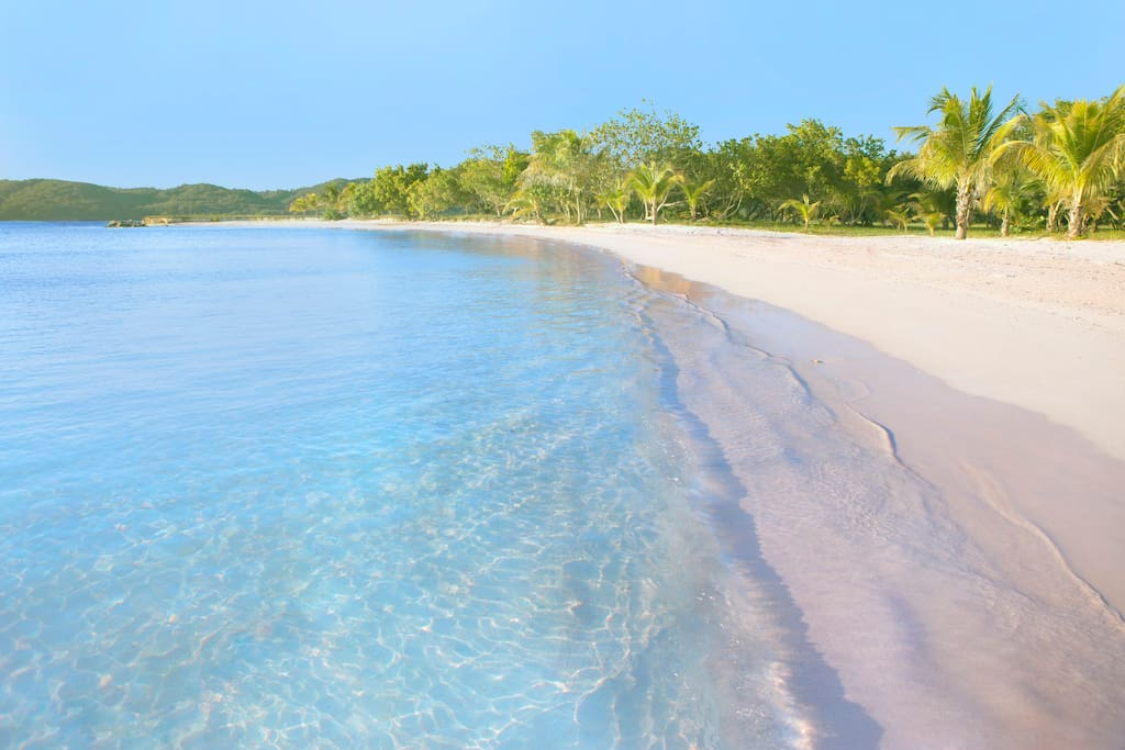 One of three beaches on the Cay