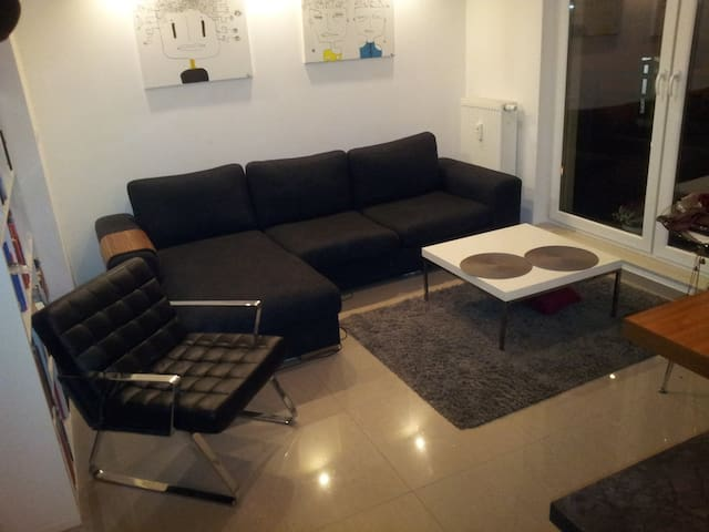 Doble couch in the modern apartment - Warszawa - Lägenhet