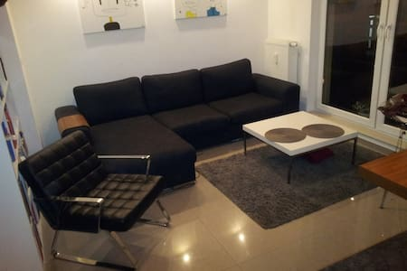 Doble couch in the modern apartment - Warszawa