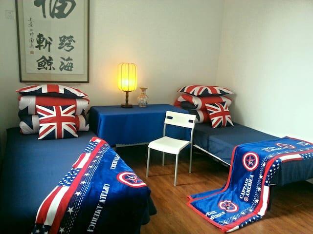 二楼标间-这是您温暖的家,可以变形的床,亦可为两张单人床,亦可为一张双人大床,变形就是这么任性……