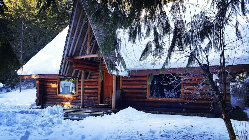Private room in beautiful log home - Kaslo - Talo