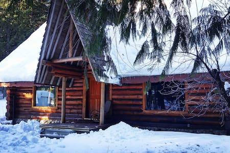 Private room in beautiful log home - Kaslo - Casa