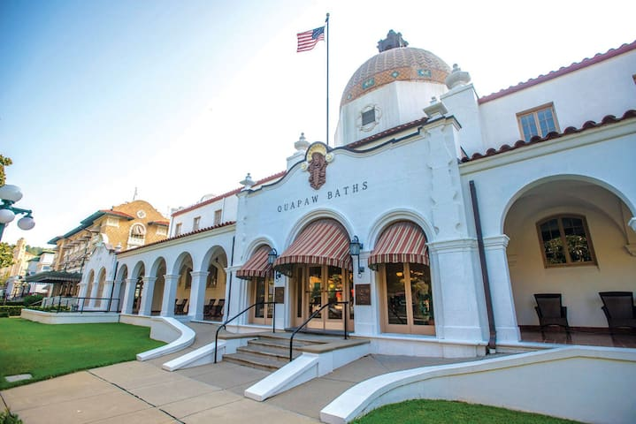 Our guests have access to our Quapaw discount.  Free access is given to the four thermal pools, with a 10% discount given for spa treatments.   We strongly suggest making advance reservations directly with Quapaw Bathhouse