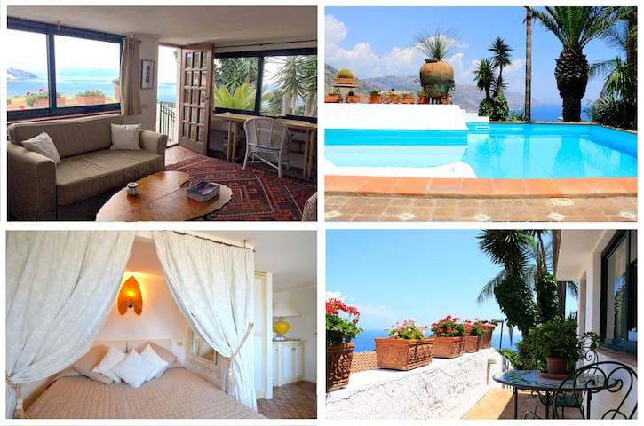 PANORAMIC SUITE  Terrace Pool + View in Taormina - Taormina - Apartmen
