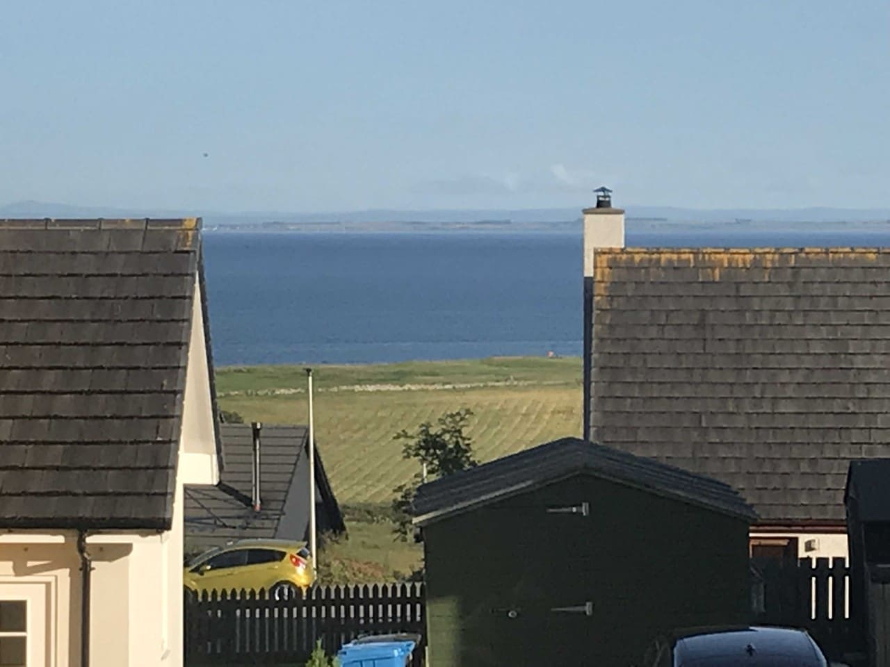 View out over Moray Firth from double room
