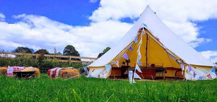 Bell Tents in the heart of the Dorset countryside