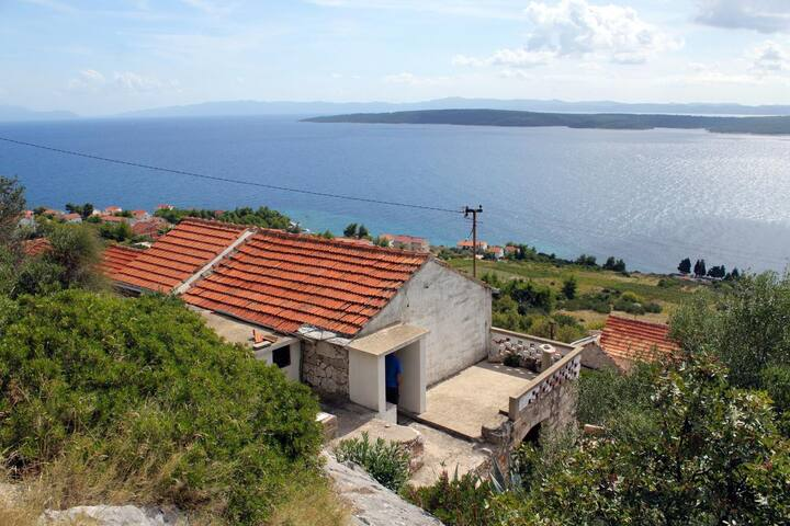 Two bedroom house with terrace and sea view Zavala, Hvar (K-5702)