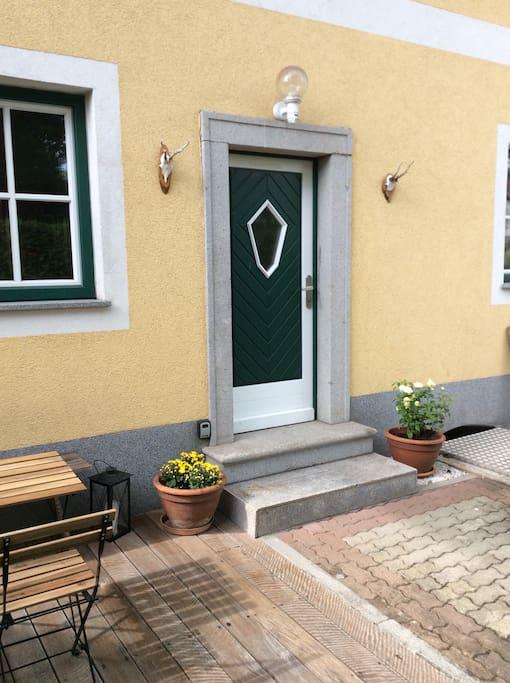 Eingangsbereich / Entrance. Wie ein eigenes kleines Haus