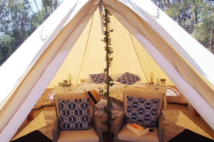 Luxury camping with a difference