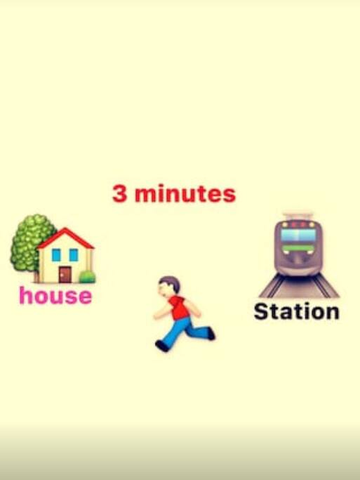 From Nishi-Yokohama station to the guest room 3 minutes walk