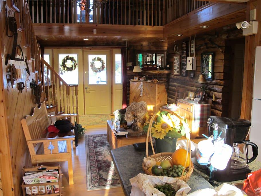 The entry lobby at the Inn