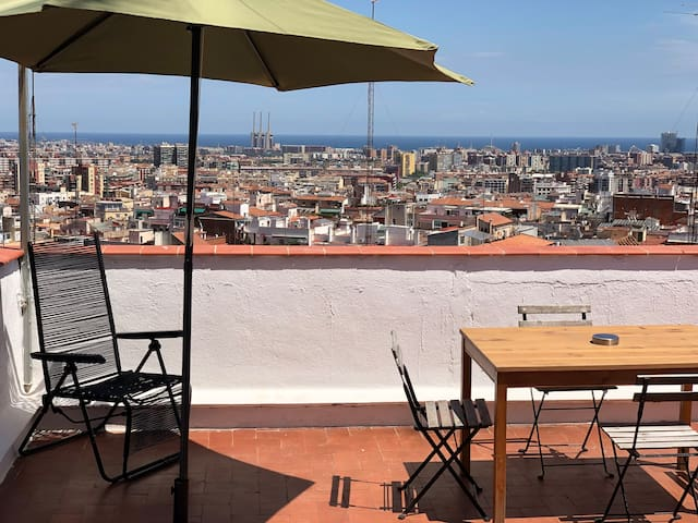 3 PRIVATE TERRACES ATTIC BARCELONA CITY VIEWS