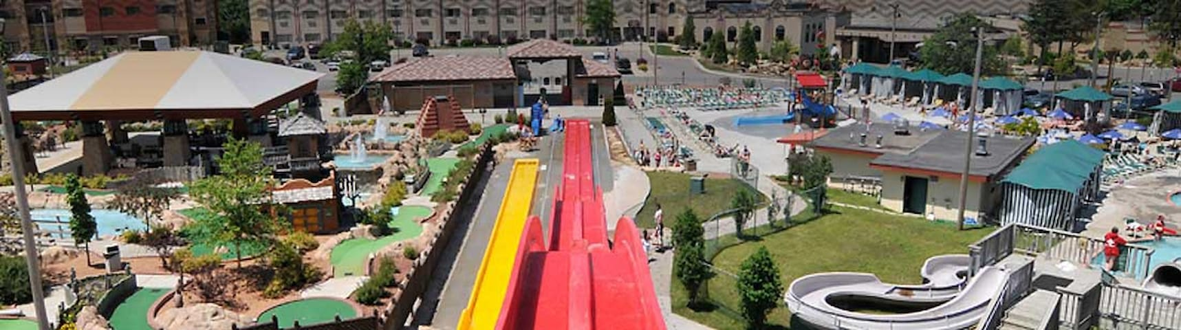 Amenities include access to water parks!