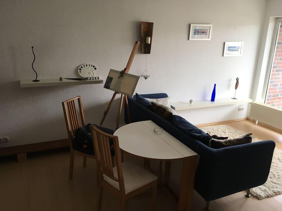 Wohnung kann bei Bedarf vollkommen abgedunkelt werden