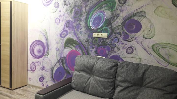 Уютная квартира-студия в Олимпийском парке.