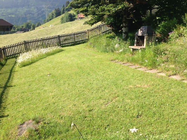Garten mit Cheminee