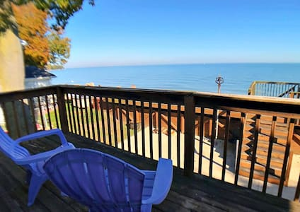 Lake Erie MI--- BEACHFRONT HOME, 3 BEDRMS 3 BATHS