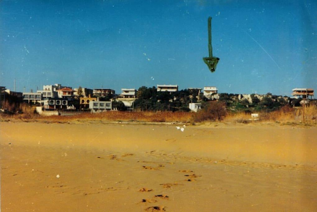 La posizione della Villetta vista dalla spiaggia da cui dista 200 metrii