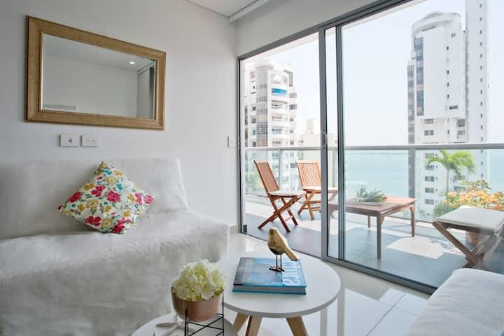 Apto Cartagena!Nuevo/Wifi/Concierge/Bioseguridad