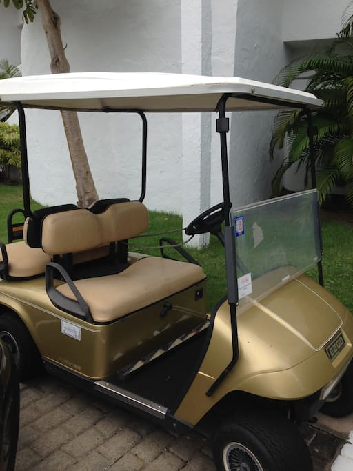 Four seat golf car included on rent (no extra charge).