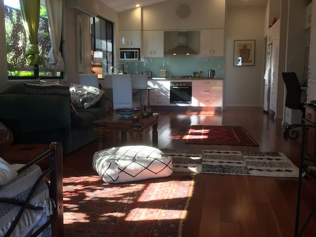 Modern, elevated, architect- designed home