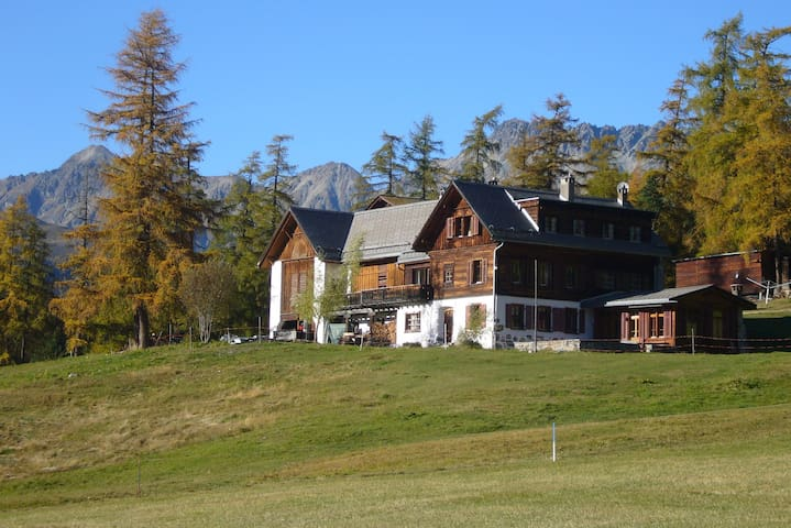 Apartment in Engadine farmhouse (1st floor) - Pontresina - Apartamento