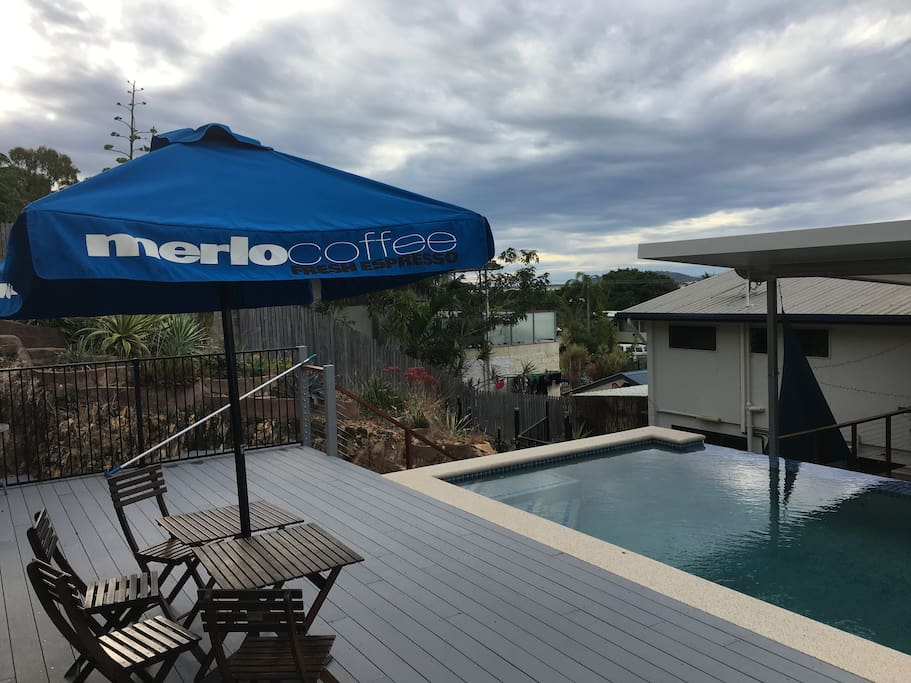 Use of great eternity edge pool with large deck.