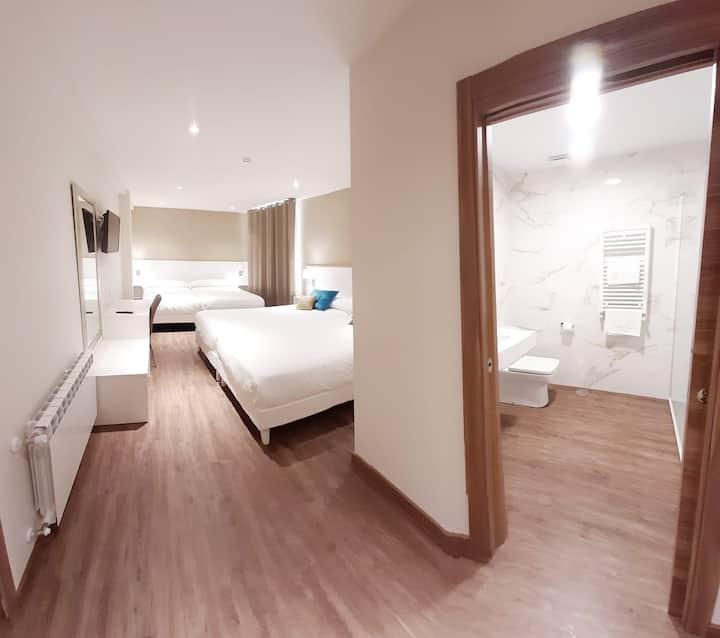 Hotel La Terraza - Habitación Cuádruple con 4 camas