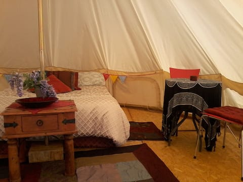 Glamping tent ~ Camp with a difference