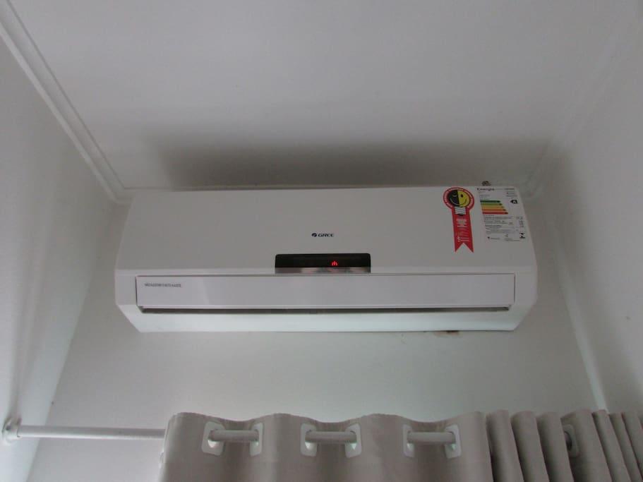 Ar condicionado no quarto