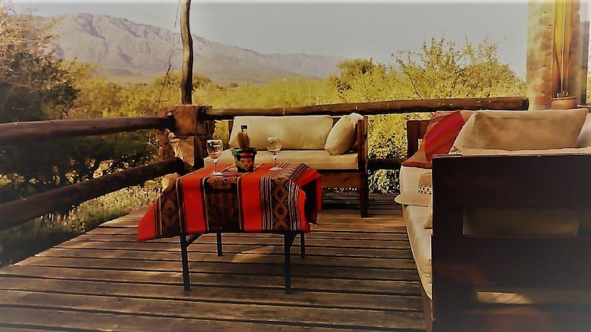 Cabaña para el descanso, con aroma a peperinas