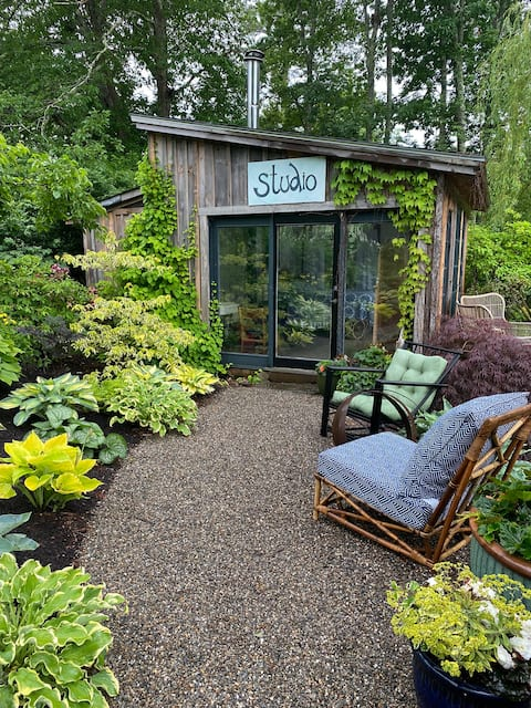 Tiny garden house.