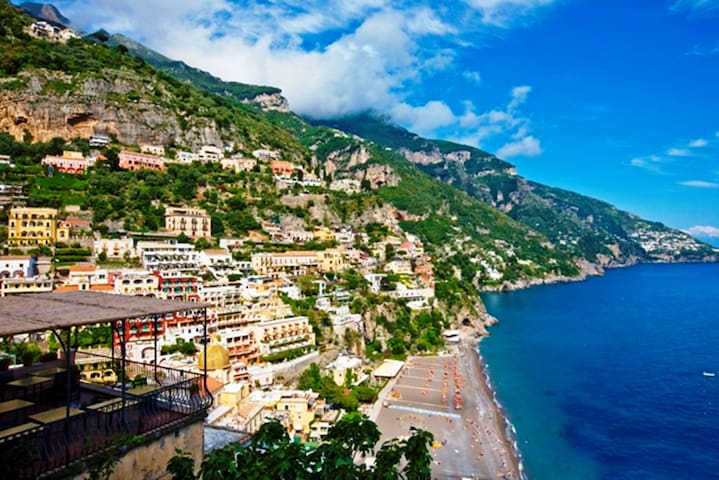 Apartment Mare A with Sea View, Air Conditioning Positano Center