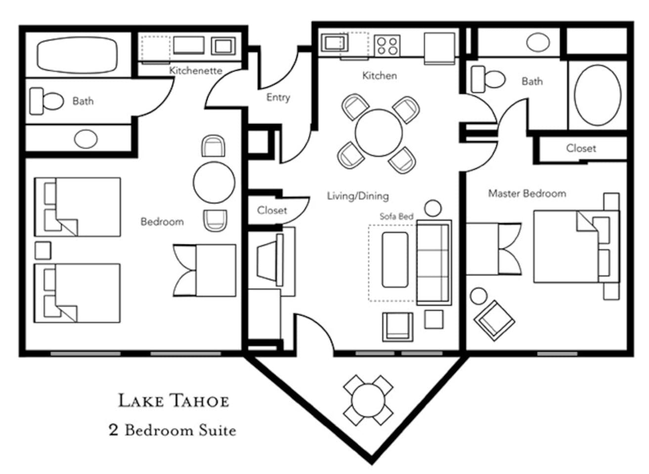 Lake Tahoe 2 Bedroom Suites 2bdm Sleeps 8 Lake Tahoe Resort4 Condominiums For Rent In South