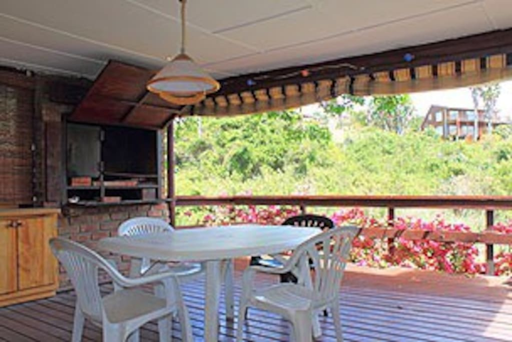 The patio with plenty seating and braai / bbq facility