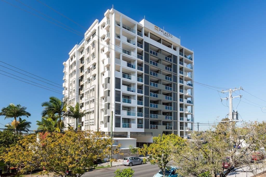Palazzo Brisbane Apartments located on Carl Street, opposite Buranda Shopping Centre