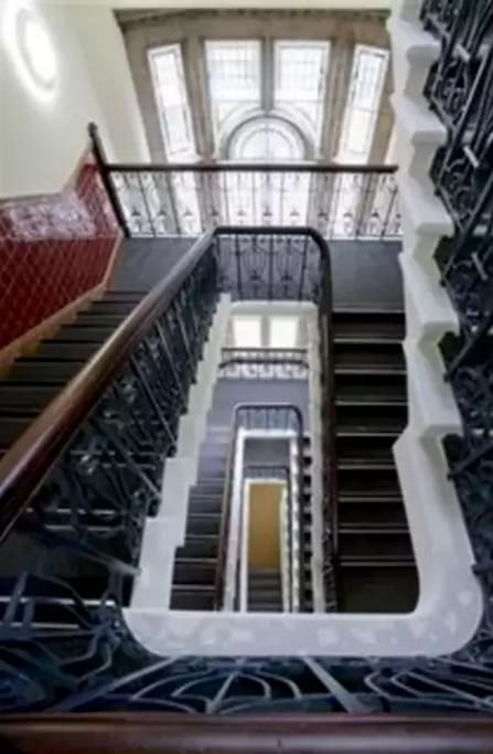 This is the ornate internal staircase in Duchy House